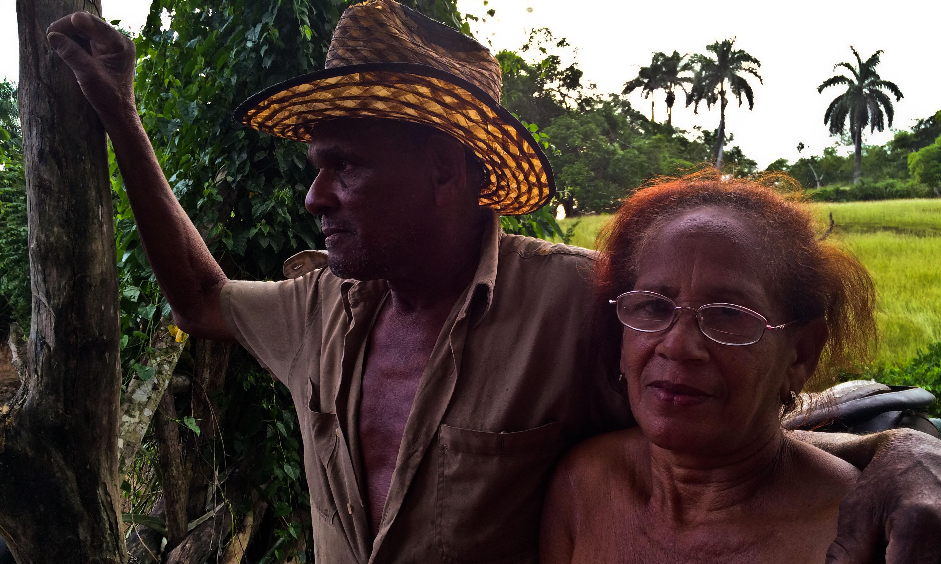 José Ángel y Haydée tienen 50 cabezas de ganado –entre toros, vacas y terneros–, 70 chivos y carneros, y un poco de gallinas (Foto: Elaine Díaz)