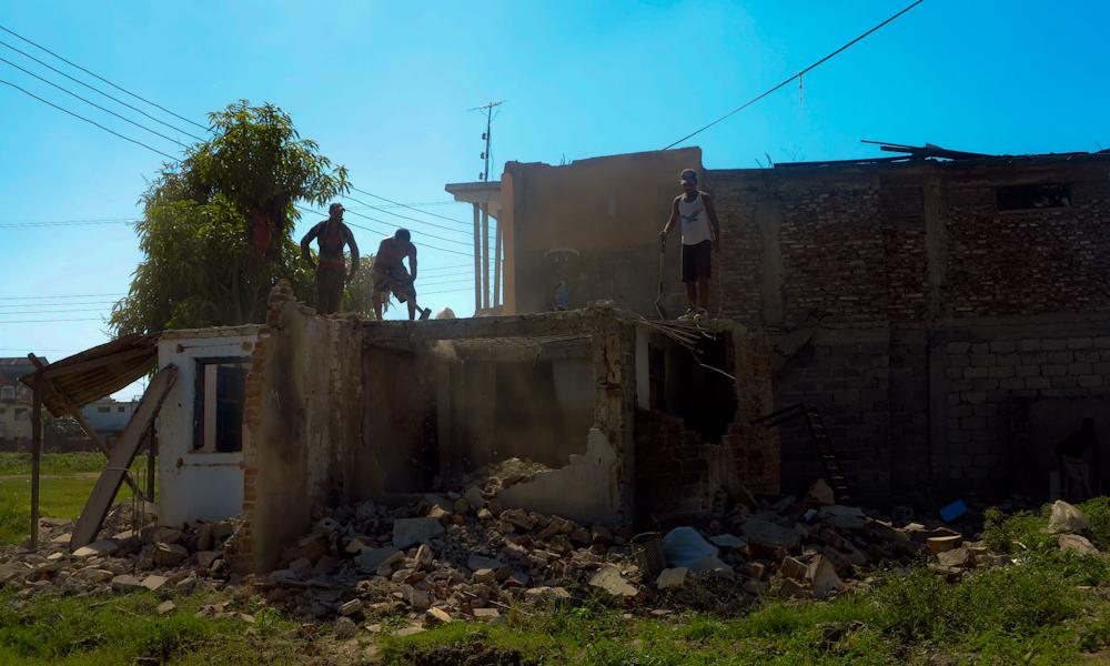 Una brigada ganándose la llave (Foto: Mónica Baró)